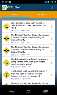 OCFL Alert - screenshot thumbnail