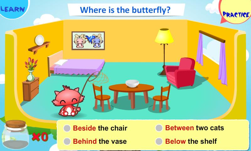 Kids Grammar Prepositions 1 - screenshot