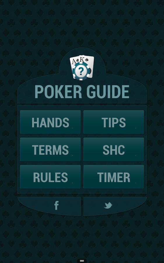 Poker short forms
