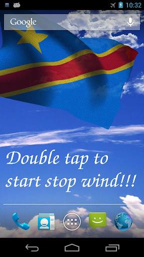 3D DR Congo Flag LWP