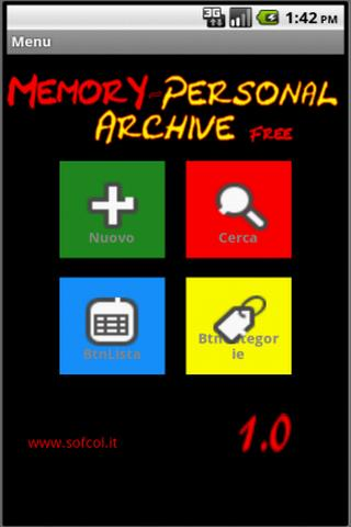 Memory Personal Archive Free - screenshot