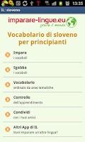 Screenshot of Imparare lo sloveno