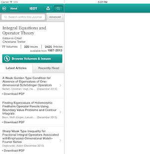 Integ Eqns and Operator Theory- screenshot thumbnail