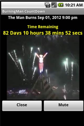 Burning Man Count Down- screenshot