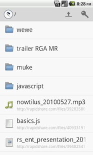 RapidShare Filemanager - screenshot thumbnail