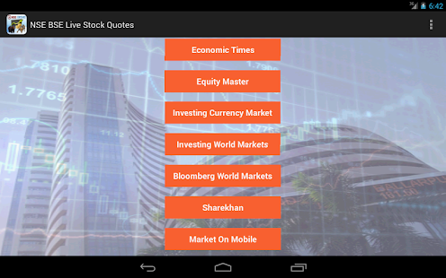 NSE BSE Live Stock Quotes