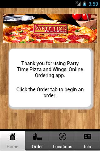 Party Time Pizza and Wings