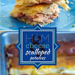 Cheesy Scalloped Potato and Ham Casserole.