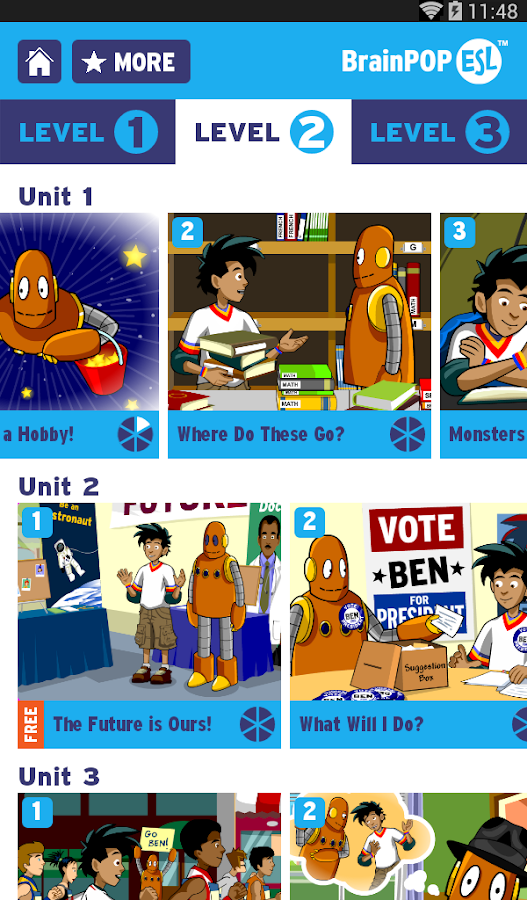 BrainPOP ESL - screenshot