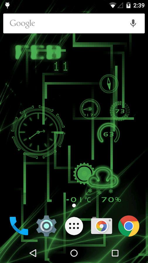 Neon Clock GL Live wallpaper- screenshot