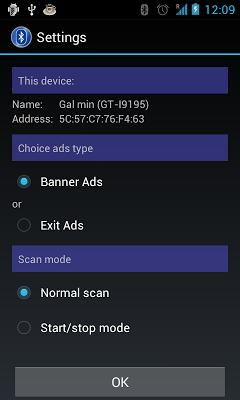 Bluetooth scanner & widget - screenshot