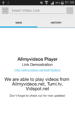 AllmyPlayer: Streaming