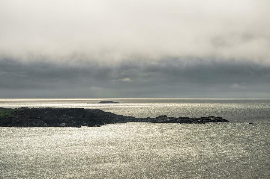 Green Island, Newfoundland by David Stone - Landscapes Waterscapes ( water, clouds, newfoundland, bonavista, green island, seascape, island,  )