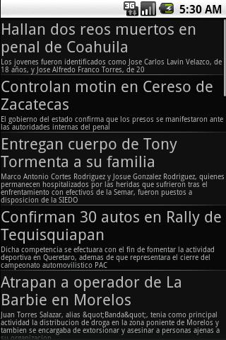Newspapers from Mexico - screenshot