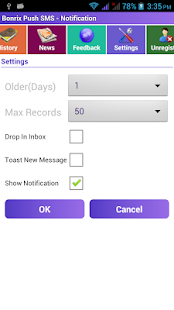 Bonrix Push SMS - Notification- screenshot thumbnail
