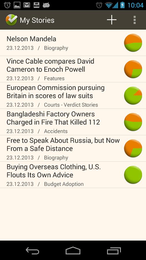 StoryCheck - screenshot