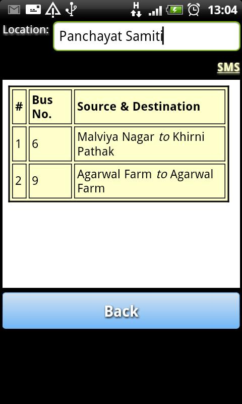 Jaipur Bus Info- screenshot