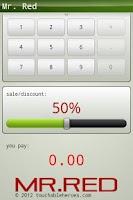 Screenshot of Mr. Red percentage calculator