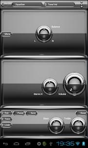 Poweramp skin Silver Glas luxe v1.33