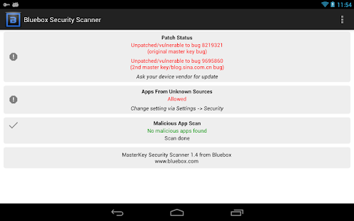 Bluebox Security Scanner - screenshot thumbnail