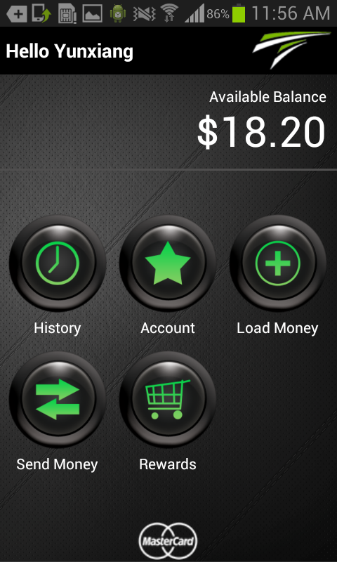 TransCard mobile wallet - screenshot