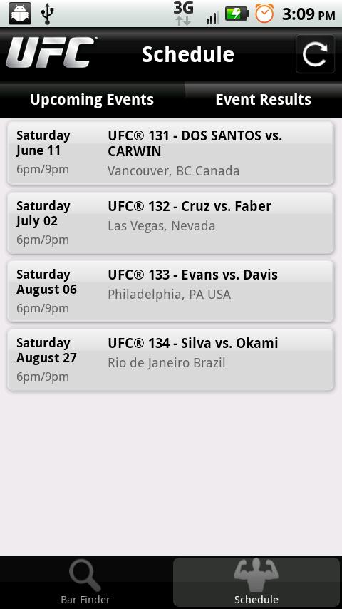UFC Sports Bars - screenshot
