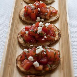 Crispy Potatoes with Mediterranean Tomato Topping