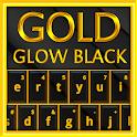Gold Glow Black Keyboard Theme icon