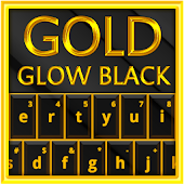 Gold Glow Black Keyboard Theme
