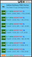 Screenshot of Indian Railway PNR Status