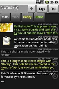 GooMemo- screenshot thumbnail