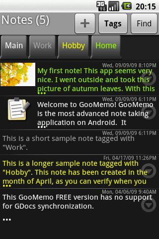 GooMemo- screenshot