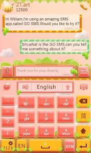 Cute Garden Go keyboard Theme
