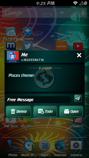 Pisces Theme for GO SMS