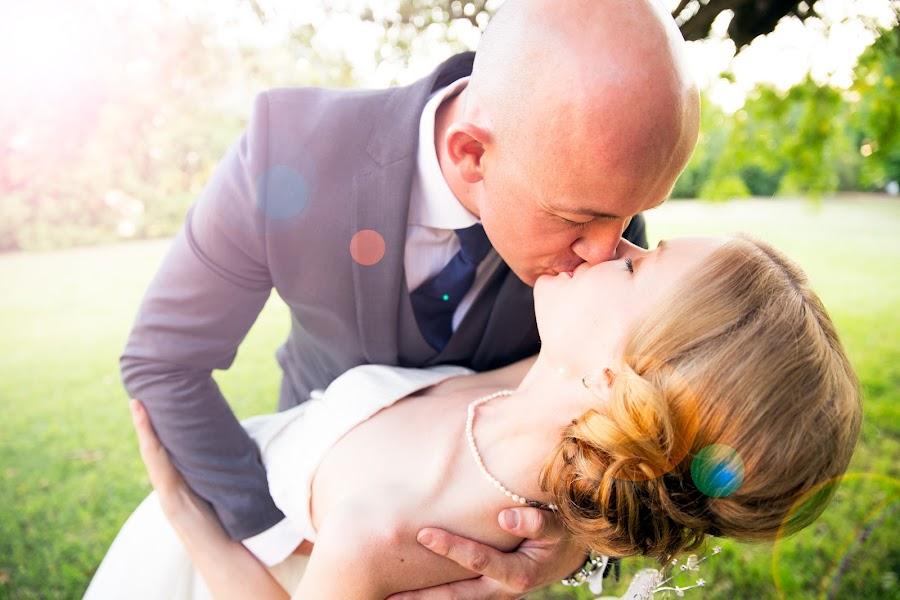 First kiss by Callum Harris - Wedding Bride & Groom ( kiss, swept off feet, married, wedding, couple, first, dance )