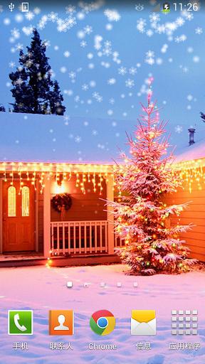 聖誕雪景動態壁紙免費