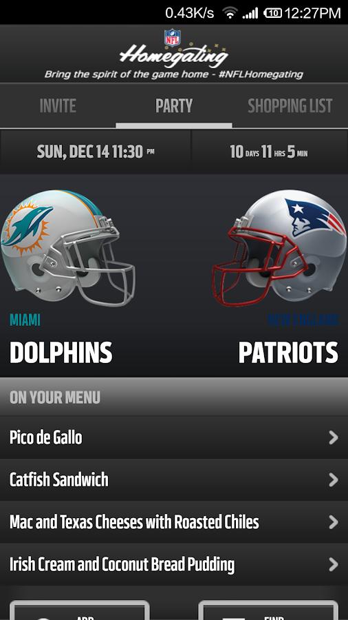 NFL Homegating - screenshot