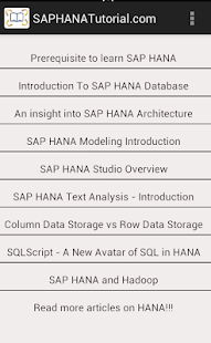 SAP HANA Tutorial- screenshot thumbnail