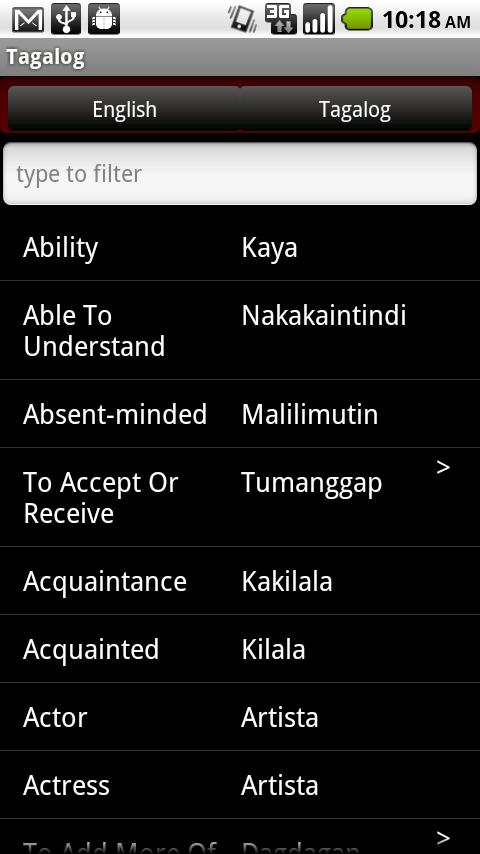 Conversational Tagalog- screenshot