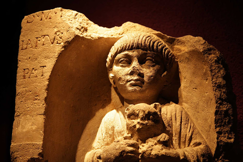 A relief in the Museum of Aquitaine in Bordeaux.