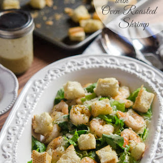 Caesar Salad with Oven Roasted Shrimp