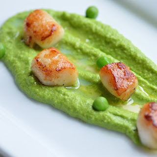 Seared Scallops With Chamomile Butter.