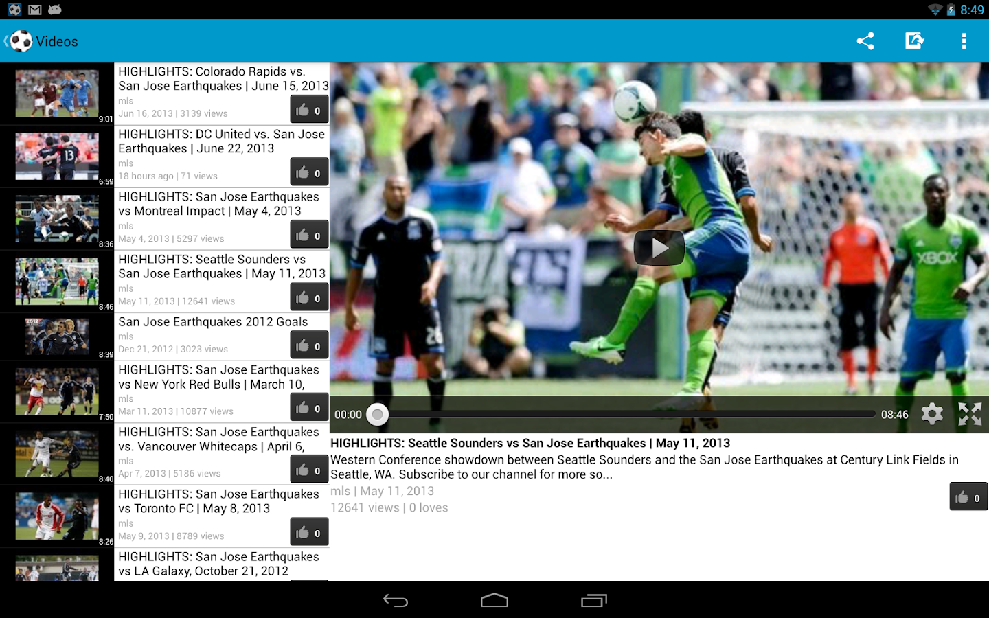 San Jose Earthquakes Fan - screenshot