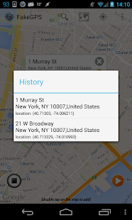 Fake GPS Go Location Spoofer: miniatura de captura de pantalla