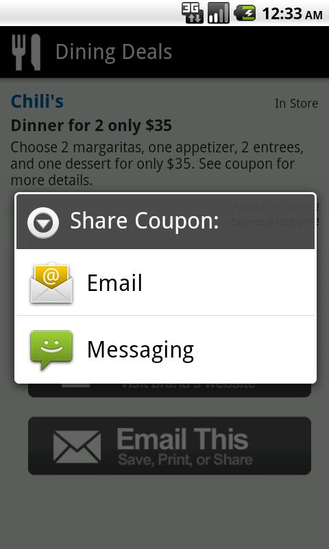 Dining Deals - Food Coupons - screenshot