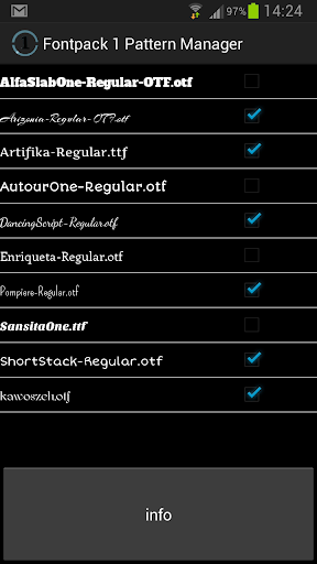 Font Pack 1 Pattern Manager