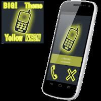 BIG! caller ID Theme NeonYllw 2.0.1