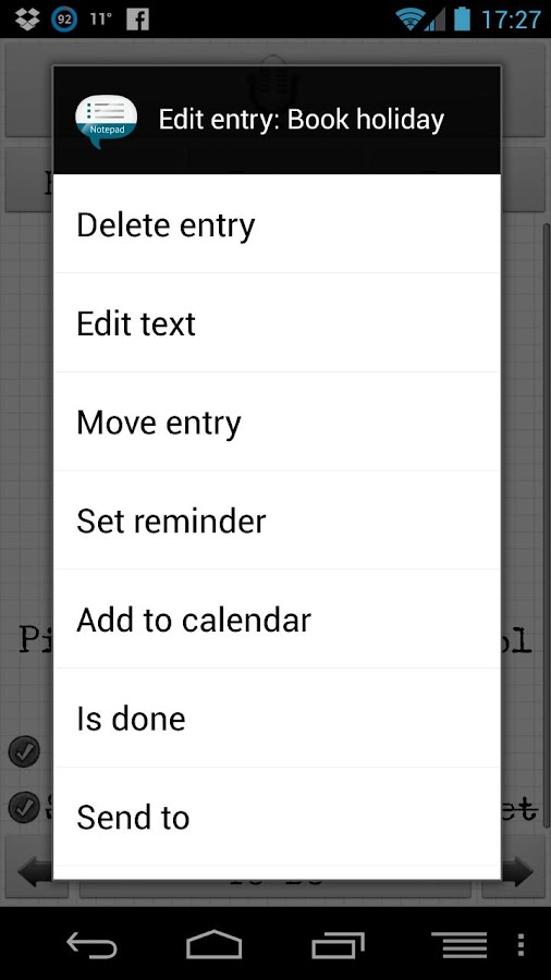Notepad Voice Memo Pro - screenshot