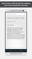 Screenshot of App.net - Broadcast With Push