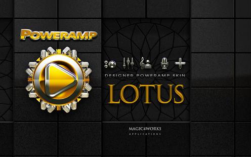 Poweramp skin theme Lotus HD
